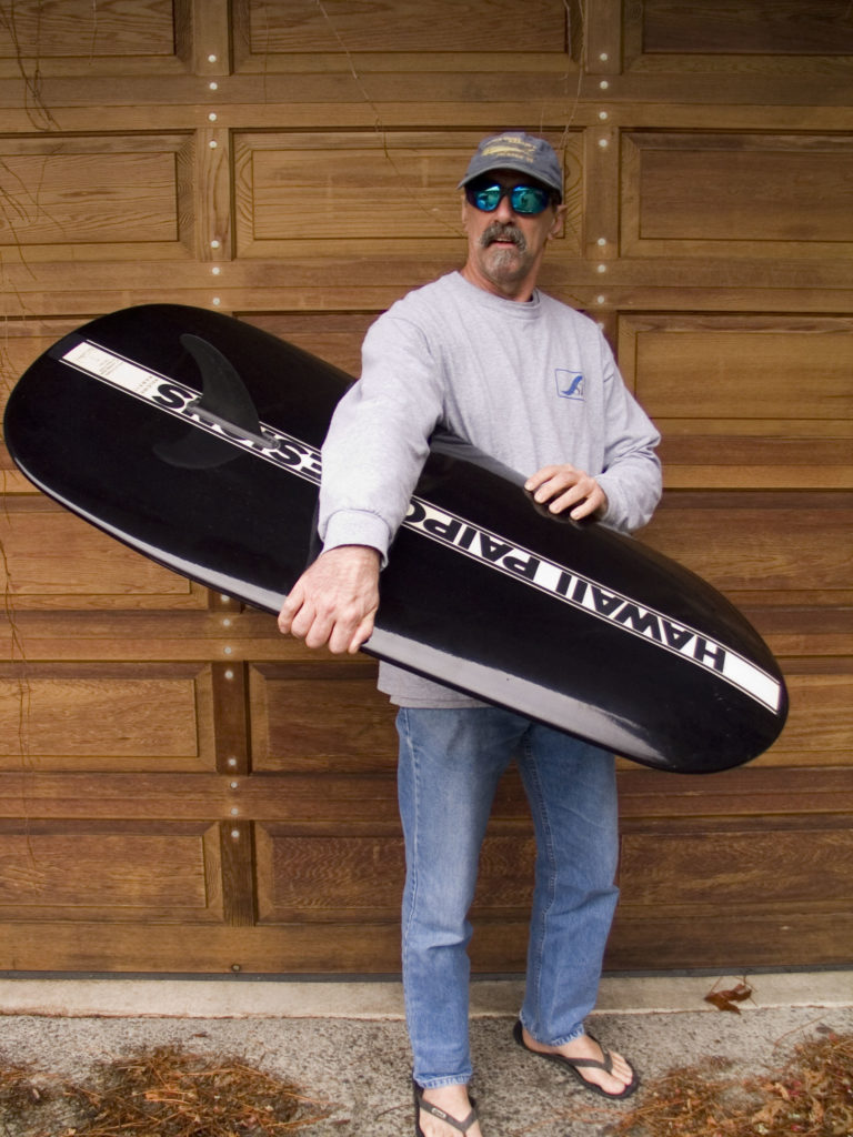 Paul showing off a brand new HPD Monster Board.
